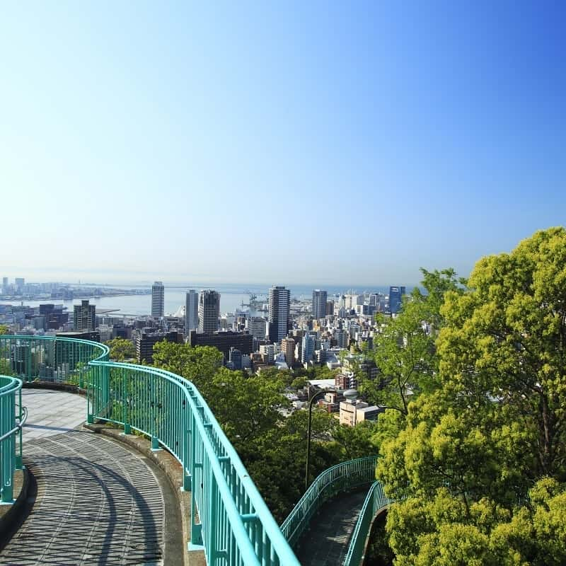 Downtown Sannomiya / View from Venus Brigde